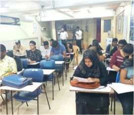 Training Students in hall